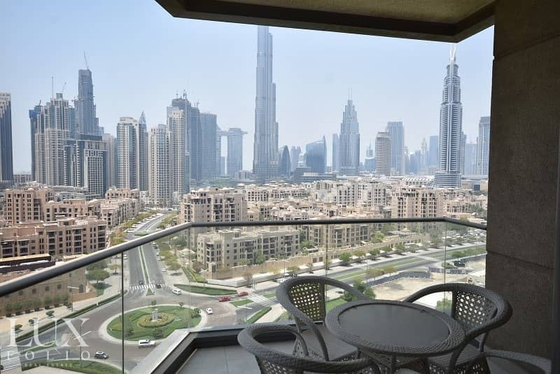 Large Balcony | Burj View | Large Living Area