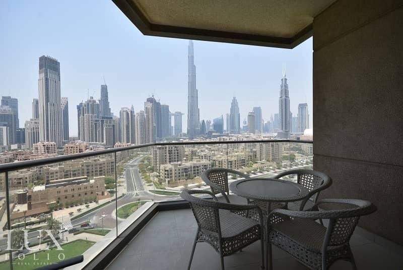2 Large Balcony | Burj View | Large Living Area