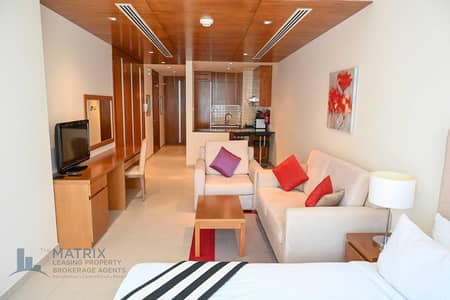 Studio for Rent in Dubai Sports City, Dubai - Good Deal! Furnished Sanctuary Suite in Spirit Tower