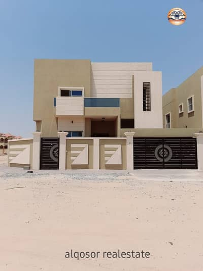 5 Bedroom Villa for Sale in Al Mowaihat, Ajman - Villa for sale in Ajman, Al Mowaihat area, two floors, excellent location, super deluxe finishing, two street corner, with the possibility of bank financing
