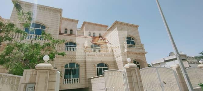 8 Bedroom Villa for Rent in Al Karamah, Abu Dhabi - All 8 Master's Bedroom w/ 4 Car Parking+Garden