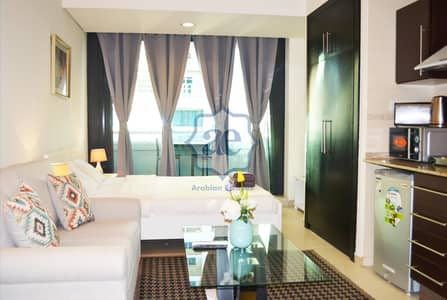 Studio for Rent in Jumeirah Lake Towers (JLT), Dubai - Cozy fully furnished studio for rent with balcony near Almas Tower JLT