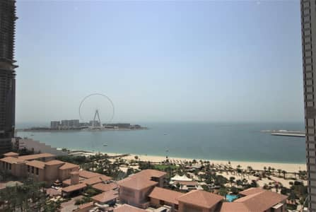 شقة 3 غرف نوم للايجار في جميرا بيتش ريزيدنس، دبي - Fully Furnished 3BR | Sea and Palm Jumeirah Views | 3 months free