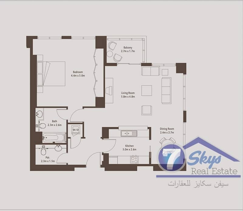 2 Very Large | Bright | 1 Bedroom Apartment