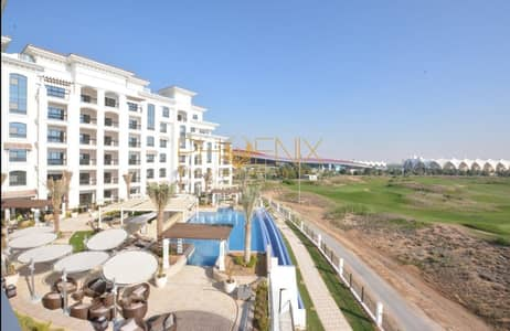 2 Bedroom Flat for Rent in Yas Island, Abu Dhabi - Charming  2 bedroom with big Balcony Ferrari World view