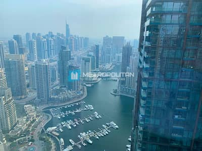 3 Bedroom Flat for Rent in Dubai Marina, Dubai - Large Layout W/ Maids Room Marina View High Floor