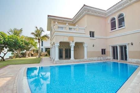 فیلا 6 غرف نوم للبيع في نخلة جميرا، دبي - 6 Bed Signature Villa | Central Pool View | VACANT