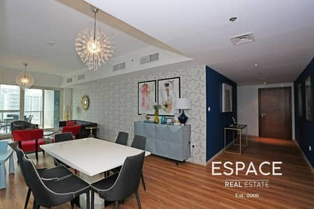 فلیٹ 3 غرف نوم للايجار في دبي مارينا، دبي - Fully Furnished | Marina View | Upgraded