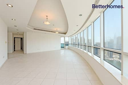 4 Bedroom Apartment for Rent in Dubai Marina, Dubai - Panoramic View | Large Layout | Unfurnished Duplex