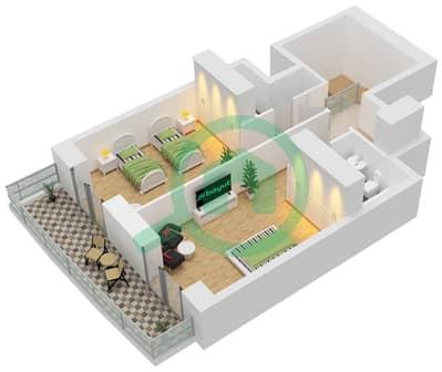برج الأميرة - 2 غرفة شقق وحدة 10 Floors 65-72 مخطط الطابق
