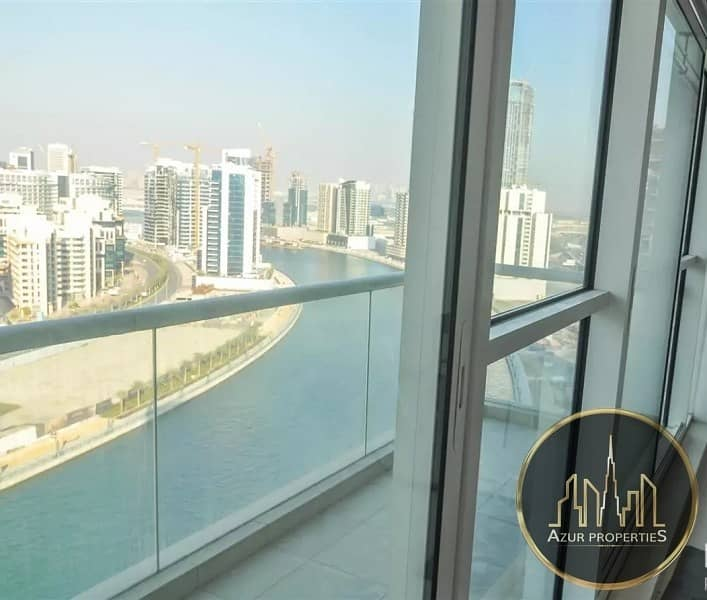 2 Canal View|2BR+maids +2 Balcony |3 parkings