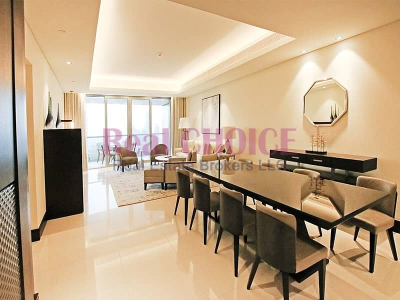 2 Picturesque Burj View|Highest Floor Fully Serviced