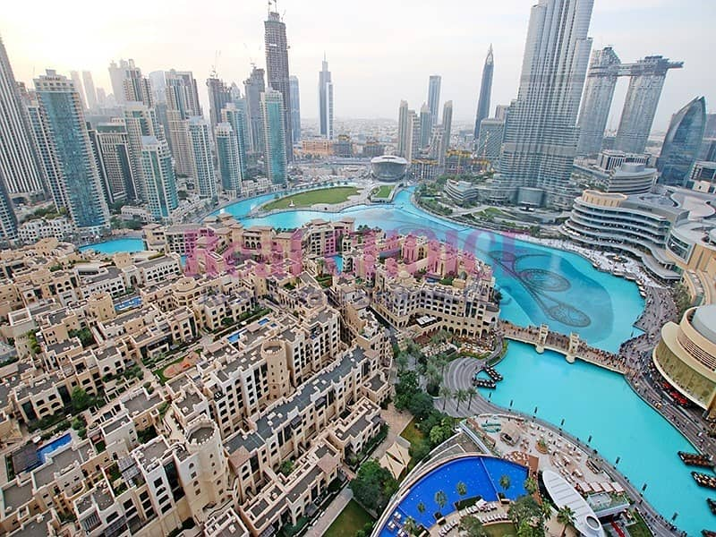 13 Picturesque Burj View|Highest Floor Fully Serviced