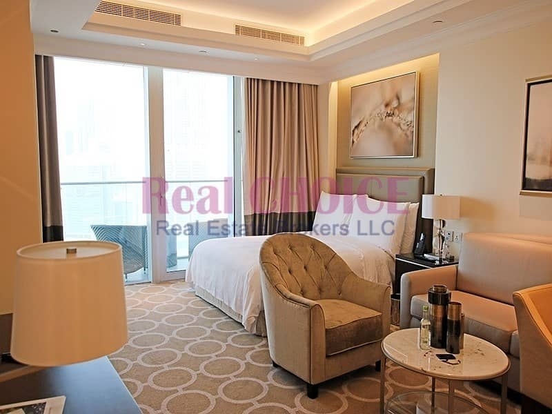 Highest floor Sea and DIFC view|Fully Serviced