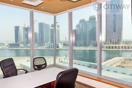 مکتب  للايجار في الخليج التجاري، دبي - Fully Furnished& Fitted Office for Rent/Canal View