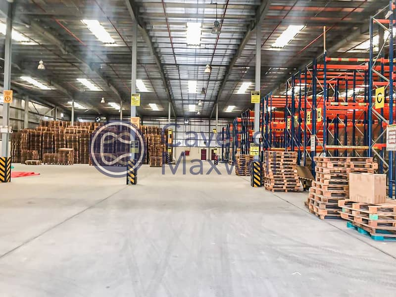 13 Partially Racked Warehouse | 200 kW Power