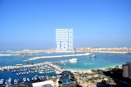 2 Bedroom Flat for Sale in Dubai Marina, Dubai - Furnished | Impressive Sea View | High Floor