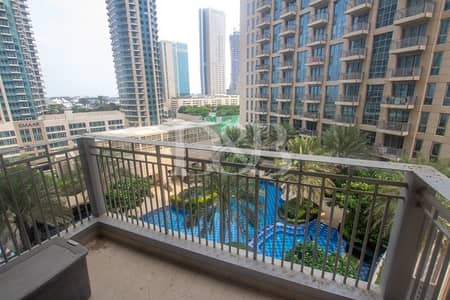 شقة 2 غرفة نوم للايجار في وسط مدينة دبي، دبي - 2 Plus Study | Burj & Pool View | AC Free