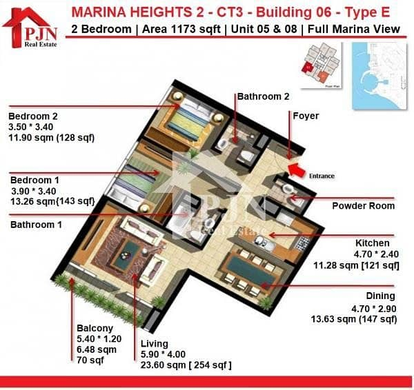 20 Hot Offer - 2 Bedroom For Sale In Marina Heights 2.