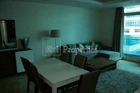 2 Bedroom Flat for Rent in Dubai Marina, Dubai - 2 BR Apt.  Furnished with Partial Marina View