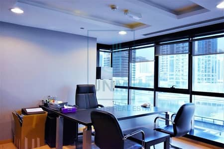 Office for Rent in Jumeirah Lake Towers (JLT), Dubai - Top Furnished office/ Lake View  in JBC1