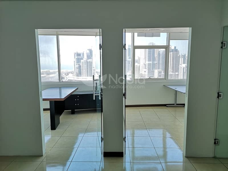 2 Semi- Furnished  Fitted Office   HDS Business Center   For Rent