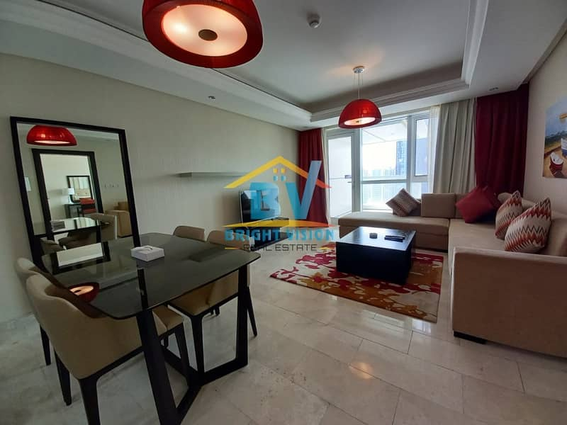 Luxury 1 bedroom fully furnished in corniche with balcony including water & electricity!