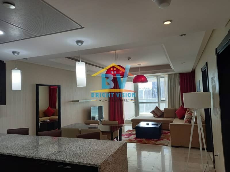 2 Luxury 1 bedroom fully furnished in corniche with balcony including water & electricity!
