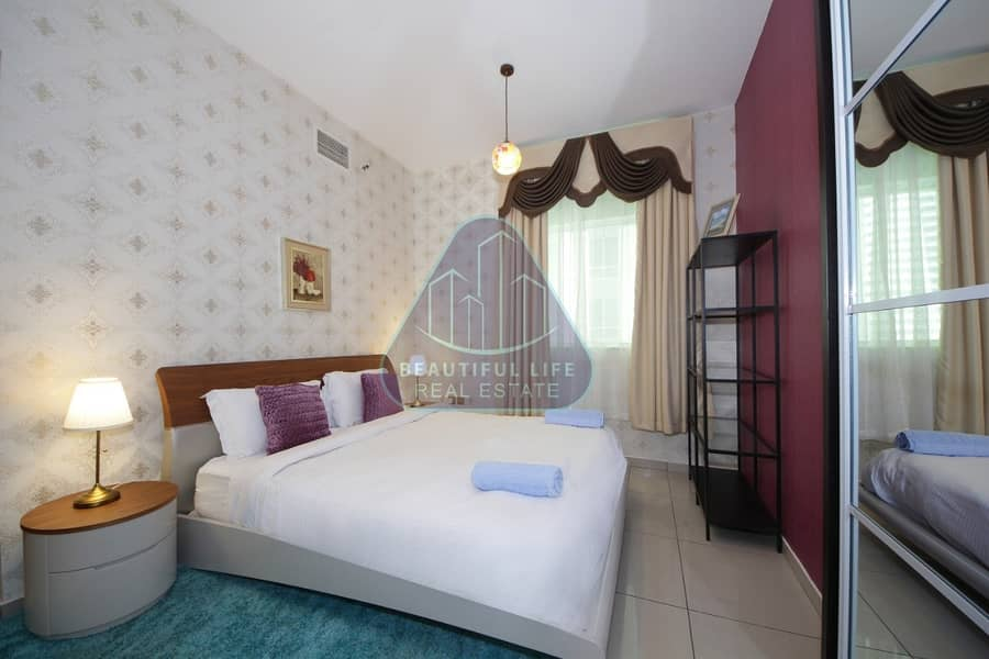 Modern Luxury Furnished 1-Bedroom apartment  with Balcony