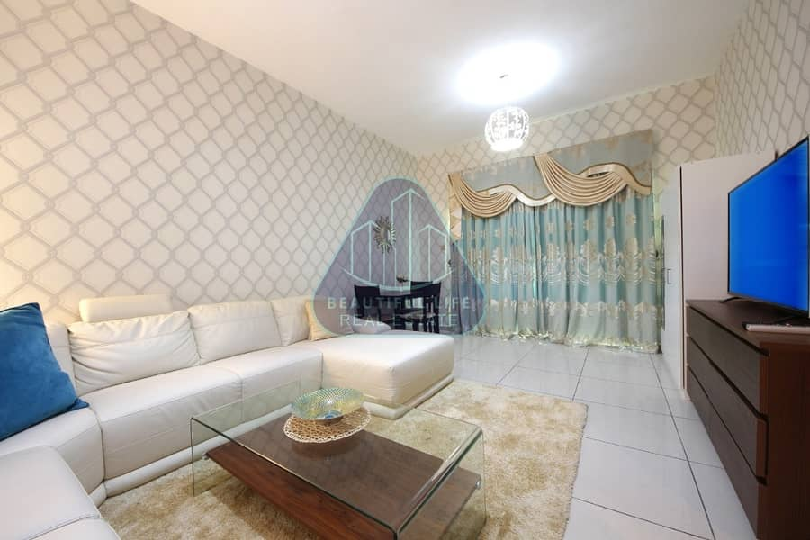 2 Modern Luxury Furnished 1-Bedroom apartment  with Balcony