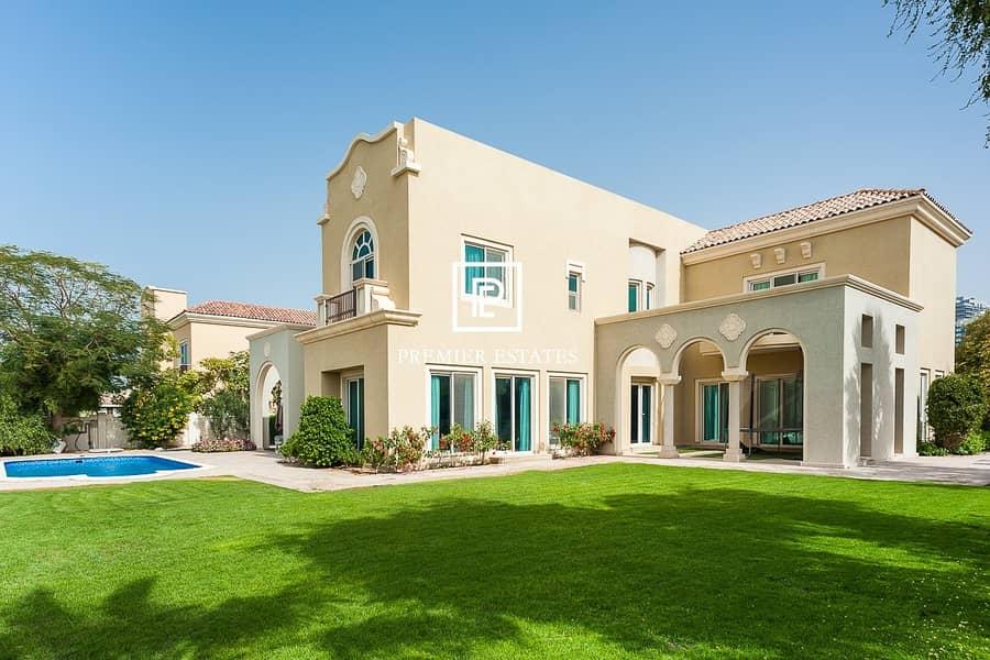 Amazing Golf Views|6 Bed Villa| Superb Garden
