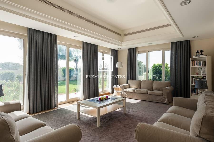 2 Amazing Golf Views|6 Bed Villa| Superb Garden