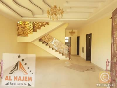 5 Bedroom Villa for Rent in Al Rawda, Ajman - Wonderful design villa, large area, close to all services, the finest areas of Ajman, for rent for all nationalities. . . .
