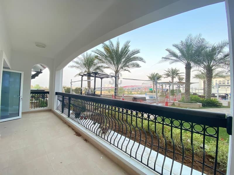 Beautiful Balcony with Direct Pool Access