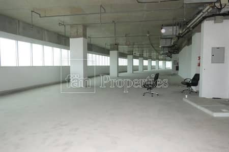 Office for Rent in Al Satwa, Dubai - Shell n core office space with landscape view