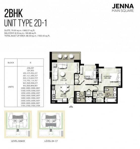 13 1 MONTH FREE | 2 Bedroom |Full Pool View | Jenna 1