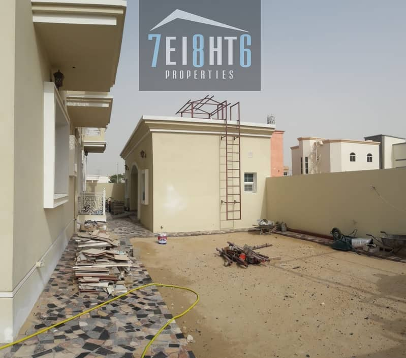 11 Outstanding property: 4 b/r good quality independent villa + maids room + LIFT +  large garden for rent in Al Quoz 2