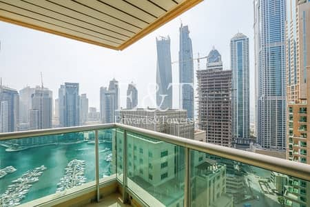 2 Bedroom Flat for Rent in Dubai Marina, Dubai - Vacant High Floor with Amazing Sea Views
