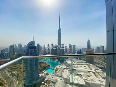 3 Bedroom Hotel Apartment for Rent in Downtown Dubai, Dubai - Burj & Fountain View|High Floor|Exclusive