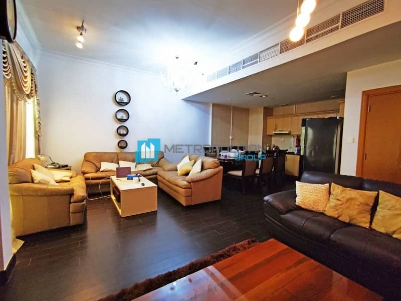Furnished 2BR | Maid & Storage Room | Canal View