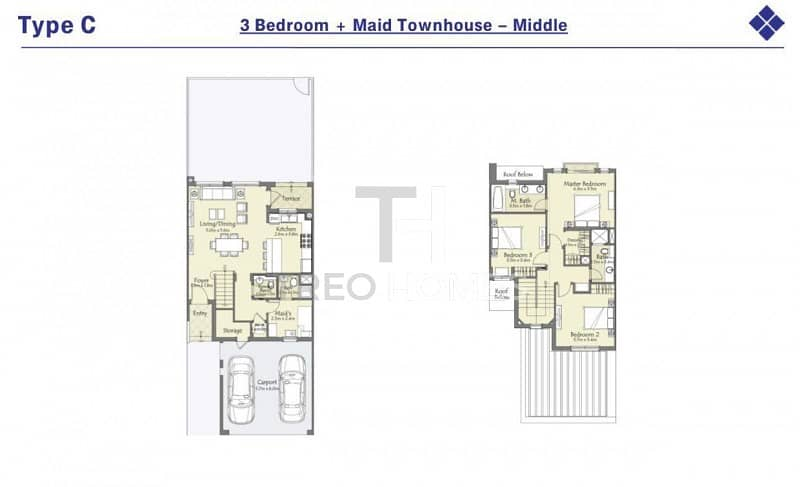 22 Type C Middle Unit - Close To Pool & Park
