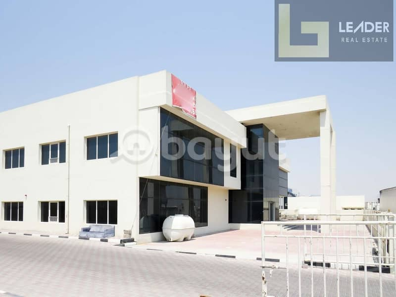 2 Office Building With Warehouse l Power 350 Kw l  35000 sq ft l @20 aed Sq ft
