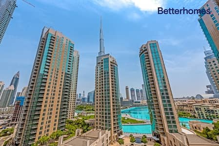 1 Bedroom Flat for Sale in Downtown Dubai, Dubai - Large One Bed + Study | Partial Fountain & Burj view