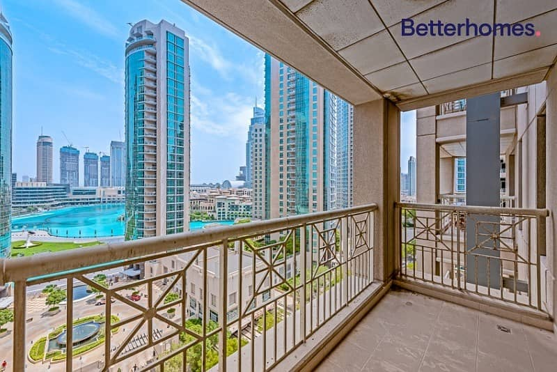 2 Large One Bed + Study | Partial Fountain & Burj view