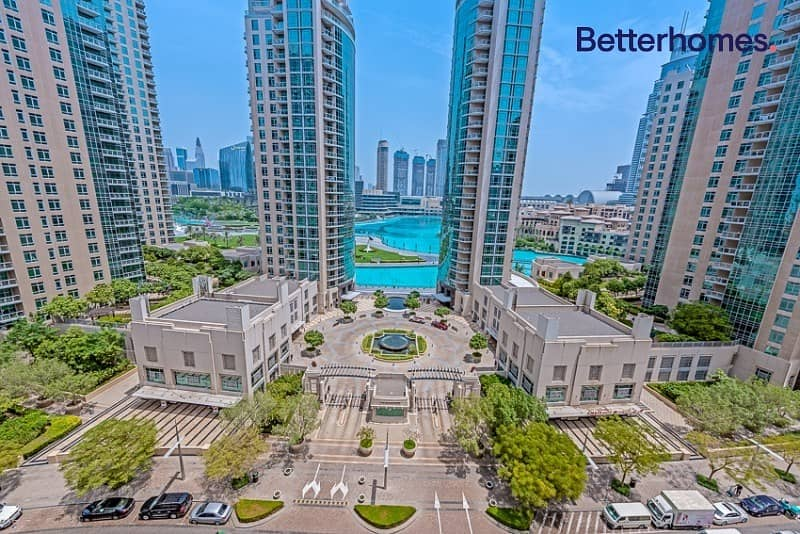11 Large One Bed + Study | Partial Fountain & Burj view