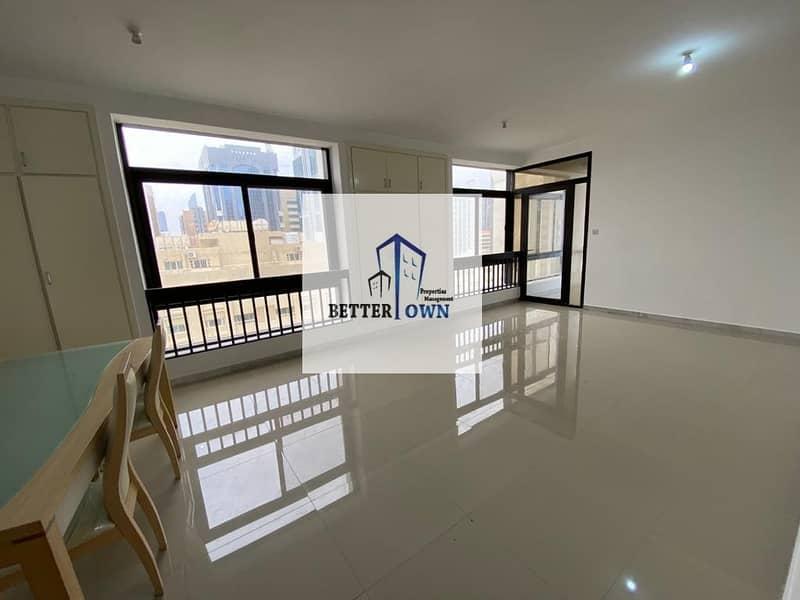 2 Huge Living Hall & Kitchen | 3 BHK | @100 K! Khalidiya Street.