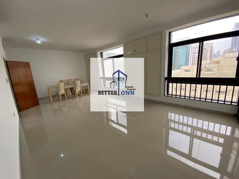Huge Living Hall & Kitchen | 3 BHK | @100 K! Khalidiya Street.
