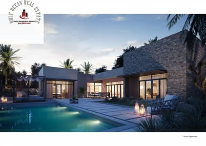 3 Bedroom Villa for Sale in Ghantoot, Abu Dhabi - Villas for sale in ABDH directly on the sea for 9 years with the developer for sale in Ghantoot