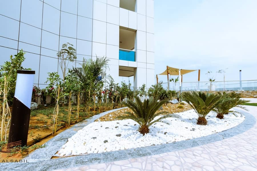 19 Brand New |Great price | High quality | With Balcony | New studio | in Al Jawhara Tower |