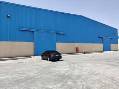 Open land with warehouse facilities for rent Abu Dhabi industrial city Mussafah
